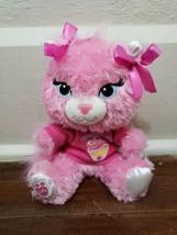 "Build a Bear 7"" Buddies Smallfrys Pink Glitter Sassy Cat Birthday Girl - $19.34"