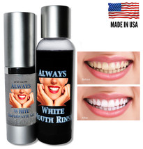 Mouth Rinse & Toothpaste Gel ALWAYS WHITE Teeth Whitening At Home System... - $12.95