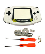 GBA Nintendo Game Boy Advance Replacement Housing Shell Screen White Pik... - $15.19