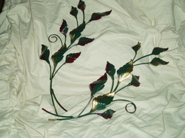 Home Interior Metal Leaf Wall Accent Pair Homco (b) - $15.99