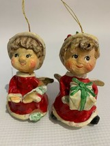 Set Of Two Vintage Christmas Angel Ornaments Made In Taiwan - $15.84