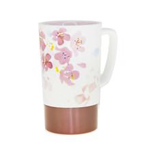 Starbucks Pink Cherry Blossom Sakura Double Walled Ceramic Steel Mug 16Oz - $83.16