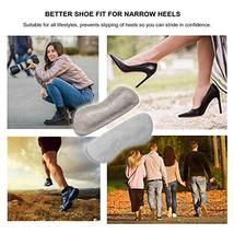 Heel Grips for Narrow Heels or Loose Shoes, Premium Suede Leather Cushion Insert image 3