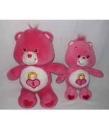 "CUTE 11"" And 14"" Care Bear SECRET HEART Plush Bears - $37.39"