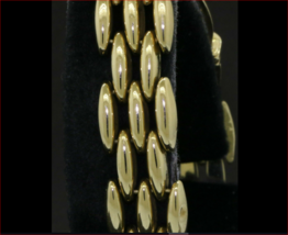 "Heavy Elegant 14K Yellow Gold Italian Panther Chain Link Bracelet 1/2"" WIDE Exc. - $945.74"