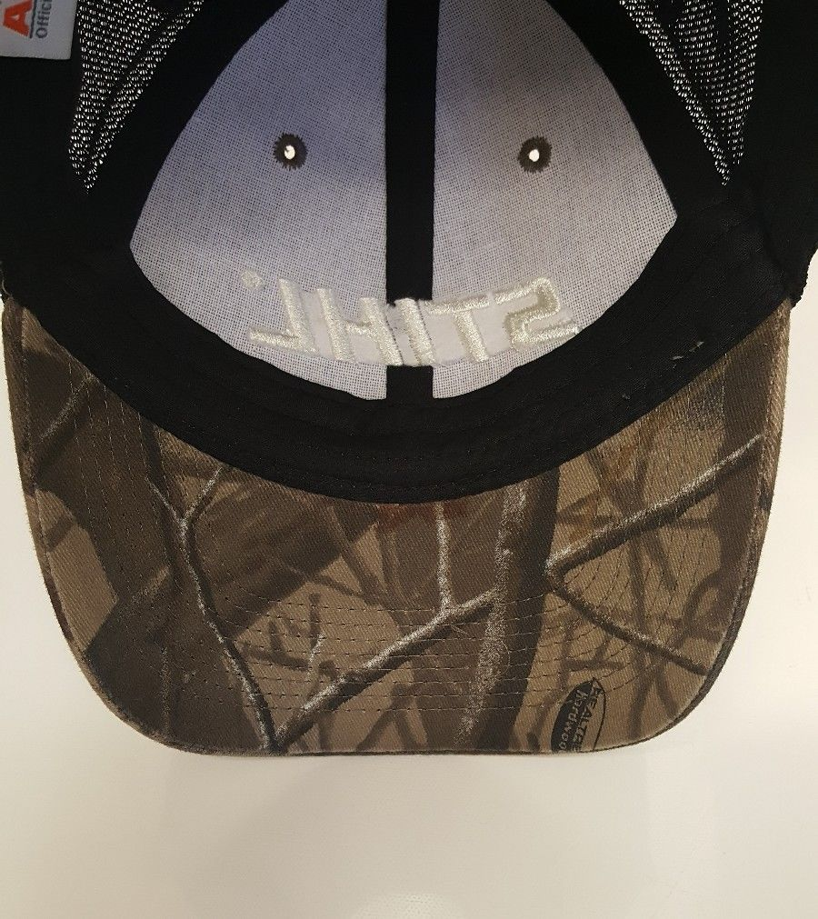 Stihl Chainsaws Camo Realtree Hardwood Hunt Black Mesh Hat Cap STIHL Camouflage