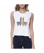 Llama Pattern Womens Crop Top - $14.99