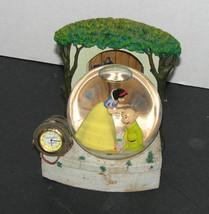 Disney Snow White & Dopey Irresistibly Lovable Snowglobe Clock - $24.98