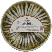 White Anchovies Marinated in Oil and Vinegar - 4 x 2.2 lbs container - $84.50