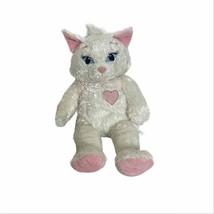 "Build A Beat White And Pink Cat stuffed animal plush glitter girl toy 18"" - $18.70"