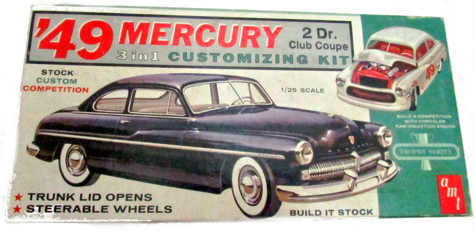 Primary image for AMT 1949 Mercury Custom Model Kit - Box & Pieces