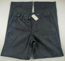 J Crew Womens Jeans Sz 30 Bell Bottom Flare Dark Wash Denim Trousers MSR... - $95.36