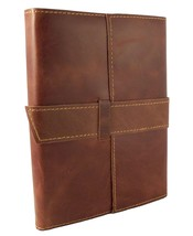 Rustic Ridge Leather Travel Journal with Handmade Paper - Refillable Jou... - $47.55