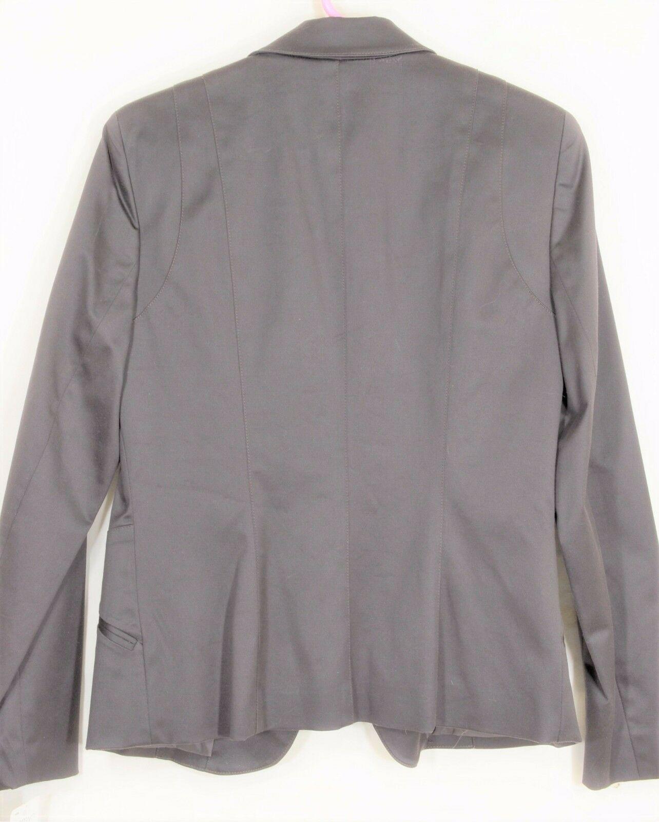 womyn jacket coat NWT SZ 8 dark brown 1-button closure lined NYC USA new image 11