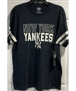 MLB New York Yankees T Shirt  Men's Size 2XL NEW Navy Stripe Logo Bronx  - $27.67