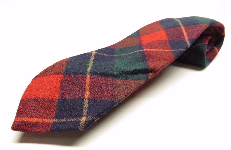 ef18dafcd50 VTG Pendleton Tartan Plaid Tie Allover Pattern 100% Virgin Wool Necktie -   23.72