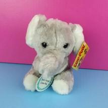 Luv-Pets Russ Berrie Plush Gray Elephant Love You Stuffed Animal Vintage... - $17.82