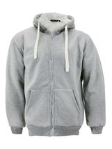 Men's Heavyweight Thermal Zip Up Hoodie Warm Sherpa Lined Sweater Jacket image 14
