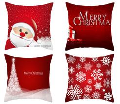 Christmas Four Elements Pillowcover,18×18,throw pillowcase, decor cushio... - $31.99