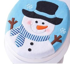 1pcs Christmas Decoration Christmas Single Toilet Cover cushion close - $9.99