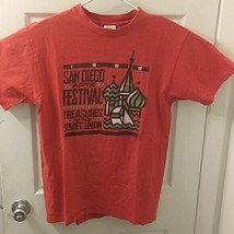 Vtg 1989 San Diego Art Festival T-Shirt Sz lARGE Red Made In USA  - €13,53 EUR