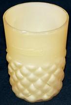 Consolidated / Phoenix Glass Half Cone Pattern Tumbler in Yellow Circa 1... - $32.00