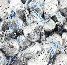Hershey's Kisses, Milk Chocolate in Silver Foil (Pack of 2 Pound) - $20.28