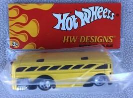 Hot Wheels HW Designs Surfin' School Bus - New In Sealed Bag. - $8.95