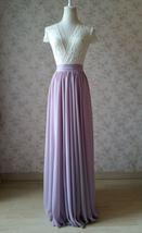 Women High Waisted Maxi Chiffon Skirt Summer Wedding Chiffon Skirts Many Colors image 5