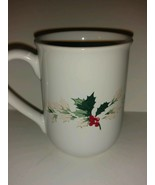Vintage Hallmark Coffee Mug Holly Branch Berries Collectible Tea - 8 oz - $22.76