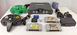 Nintendo 64 N64 ConsoleGame System, Transfer Pak, 2 Controllers, 3 Game... - $99.00