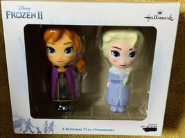 Hallmark Disney Frozen II ELSA & ANNA 3-D Shatterproof Tree Ornament 2 P... - $18.74