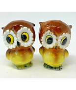 Japan Owl Salt And Pepper Shakers Ceramic Vintage Pair 19-2559D - $14.20