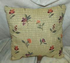 Blue Purple Flower Decorative Print Throw Pillow  12 x 12 - $14.95