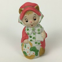 Vintage Jasco Merri-Bells Christmas Kitten Cat Bell Bisque Porcelain 1978 - $14.80
