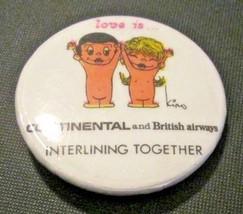 Vintage LOVE IS... British Airways & Continental Airline Interlocking Bu... - $9.99