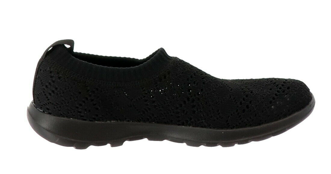 Skechers GO Walk Lite Knitted Slip-On Shoes Harmony Black 6M NEW A308763 image 3