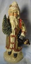Vaillancourt Folk Art Gold European Father Christmas, signed by Judi! Last one! image 1