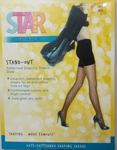 Spanx Star Power Stand-out Dots Patterned Shaping Sheers Black Size A - $12.82