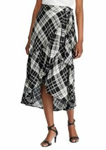 New Lauren Ralph Lauren Plaid Ruffled Linen Blend Skirt  size 4 - $89.10