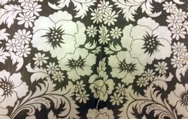 "PEVA Vinyl Tablecloth 52"" x 52"" SQUARE (4 people), BLACK & WHITE FLOWERS... - $10.88"