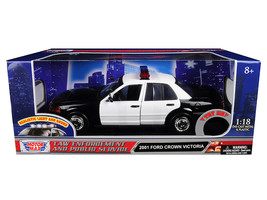 2001 Ford Crown Victoria Police Car Plain White with Flashing Light Bar, Front a - $67.58