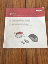 Microsoft mouse Instructions Only Ships N 24h - $12.85