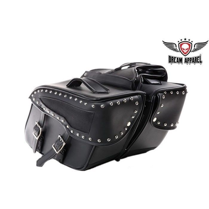 Waterproof Quick Release Motorcycle Saddlebag With No Studs FOR HONDA