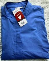 Chef Works FB25-ATB-3XL Chef Coat 3XL V-Neck Button Down Sky Blue RN 107... - $33.85