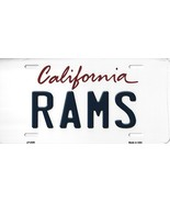 Rams California State Background Metal License Plate Tag (Rams) - $11.95