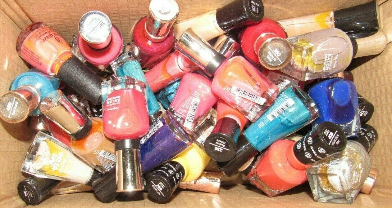 Lot 6 Sally Hansen Complete Salon Manicure Color Therapy Insta-Dri Nail Polish