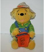 "Disney Winnie the POOH 8"" SCARECROW Plush Stuffed Animal Toy Halloween A... - $29.00"