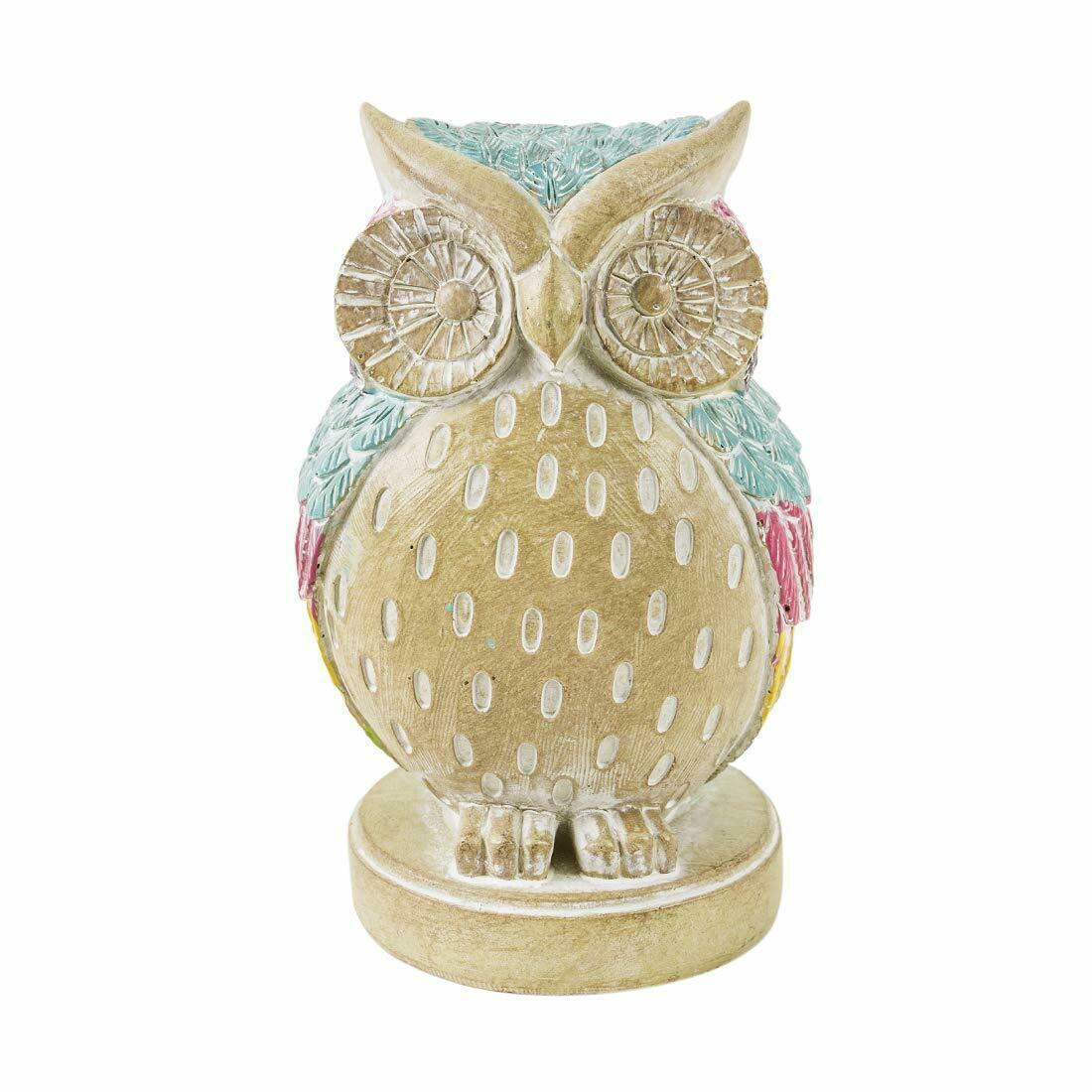 Primary image for Owls Wise Musings Figurine Poly Resin Handmade Size 8.5cms x 7.5cms x 13cms