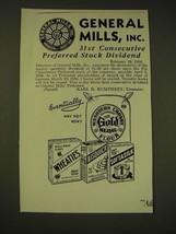 1936 General Mills Ad - General Mills, inc. 31st consecutive preferred s... - $14.99